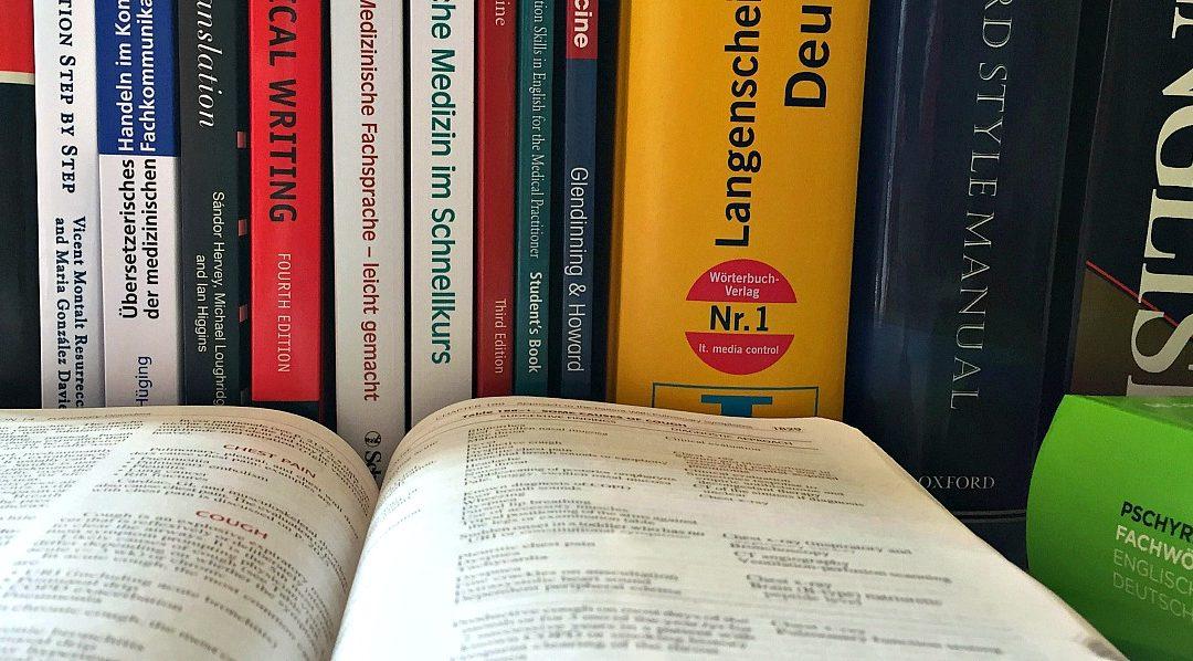 Hilfreiche Fachliteratur und Wörterbücher für Medizinübersetzer